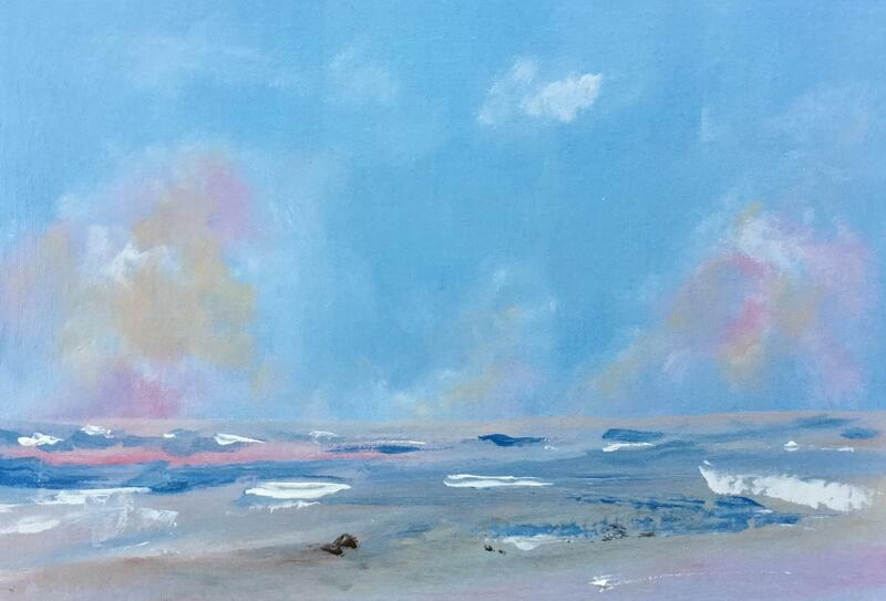 Painting of a sea scene by Steven Hawkin